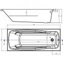 Ванна Cersanit Lana 170 x 70 прямоугольная S301-163