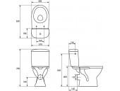 Унитаз-компакт Merida 011 с сиденьем из полипропилена