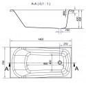 Ванна Cersanit Nao 140 x 70 прямоугольная S301-247