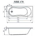 Ванна Cersanit Nike 170 X 70 прямоугольная S301-249