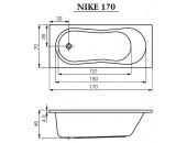 Ванна Cersanit Nike 170 X 70 прямоугольная 00307