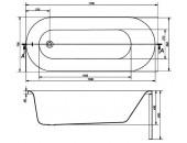 Ванна Cersanit ABS Octavia 170 x 70 прямоугольная S301-253