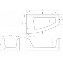 Ванна Cersanit Virgo Max 150 x 90 асимметричная левая
