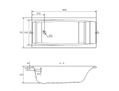 Ванна Cersanit Virgo 160 x 75 прямоугольная S301-046