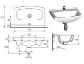 Комплект: тумба Sati + раковина Cersania 60 см S801-049-DSM