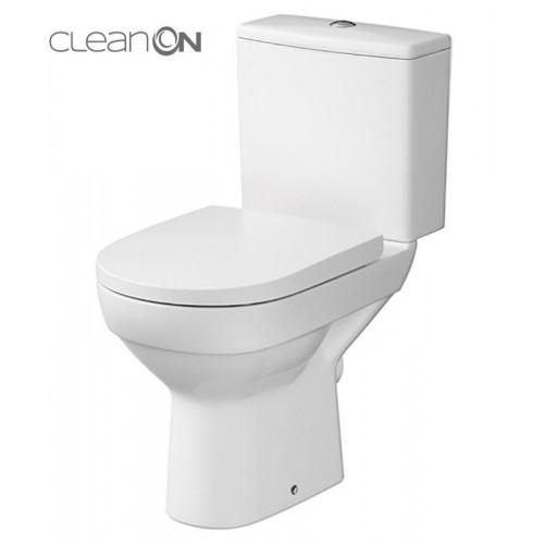 Унитаз-компакт Cersanit CITY Clean On 010 с сиденьем с микролифтом K35-035