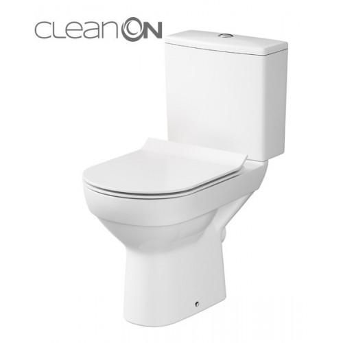 Унитаз-компакт Cersanit CITY Clean On 010 с сиденьем Soft Close дюропласт K35-037