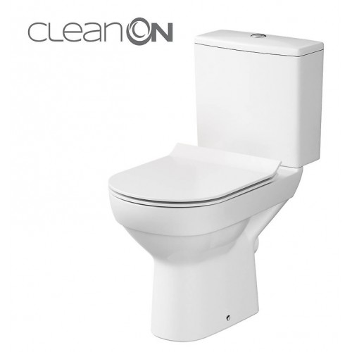 Унитаз-компакт Cersanit CITY Clean On 011, 3/5 л, + сиденье SLIM Duroplast, soft-close белое