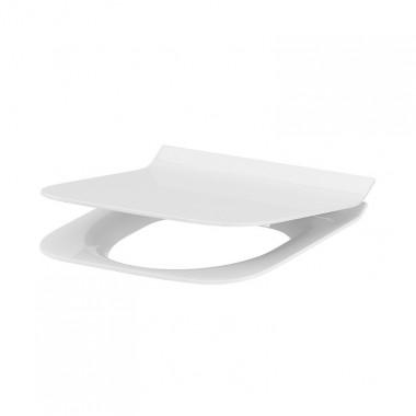 Сиденье для унитаза Cersanit Crea Slim K98-0177 Duroplast, Soft-close, Прямоугольное