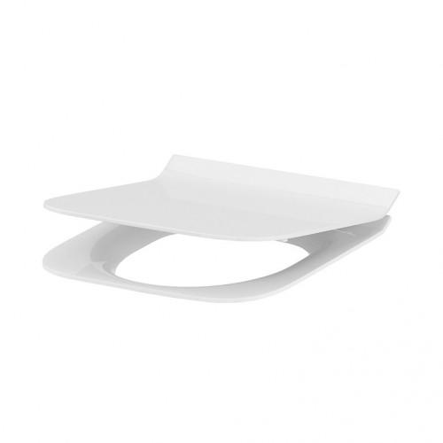 Сиденье для унитаза Cersanit Crea Slim Duroplast, Soft-close, Прямоугольное