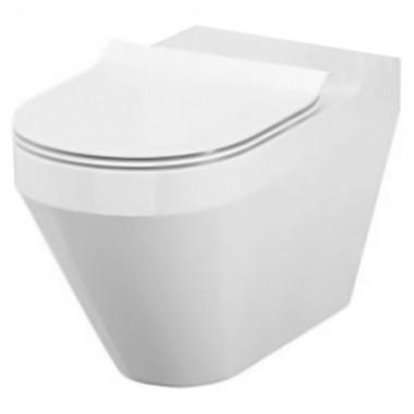 Чаша унитаза Cersanit Crea Clean On с крышкой Slim Soft-Close (Овальный) K114-023