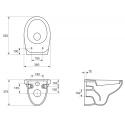 Чаша подвесного унитаза Cersanit Delfi K11-0021-BOX