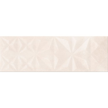 Плитка Geometrica Opoczno Cloud Beige Glossy Squares Structure 25X75