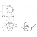 Чаша подвесного унитаза Cersanit Parva K27-061