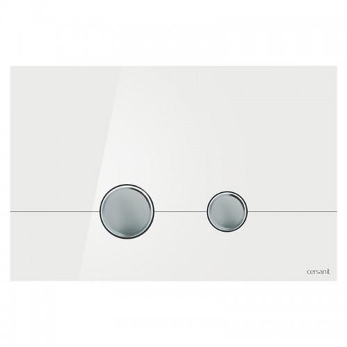 Кнопка для инст. сист. Cersanit Stero белое стекло, K97-368