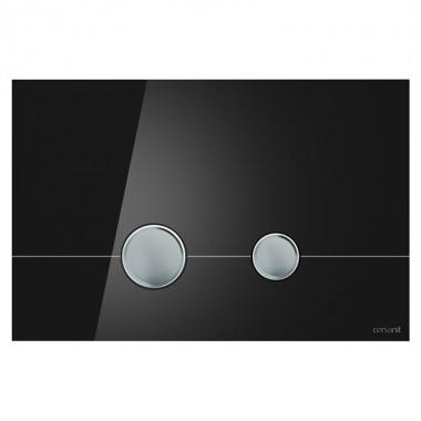 Кнопка для инст. сист. Cersanit Stero чёрное стекло, K97-372