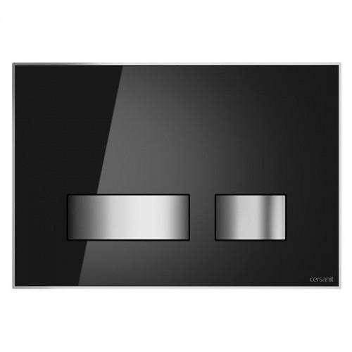 Кнопка Movi для инст. сист. Cersanit чёрное стекло, S97-013