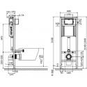 Комплект: Инсталляционная система Cersanit Aqua 2 с кнопкой Presto, подвесным унитазом DELFI и сиденьем DELFI